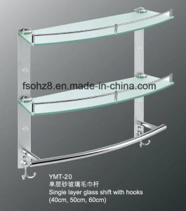 Ohz Sanitary Ware Bathroom Glass Shelf with Towel Rack (YMT-20) pictures & photos