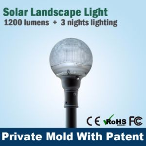 Super Bright Solar LED Outdoor Light IP67 with Lithuim Battery