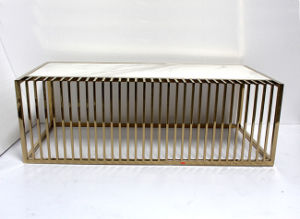 Slat Wire Rose Gold Coffee Table. pictures & photos