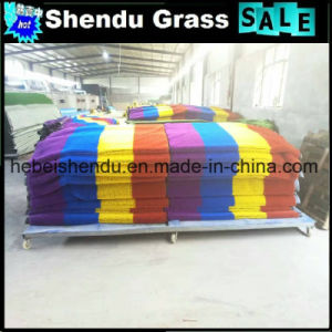 Colorful Artificial Grass 20mm with 140stitch/M pictures & photos