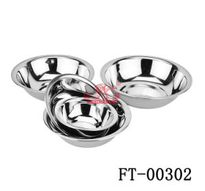 Stainless Steel Round Food Basin (FT-00302)