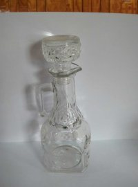 Handle Glass Bottle, Oil Glass Bottle with Glass Lid