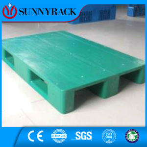 3 Runners Single Flat Surface Heavy Duty Plastic Pallet From China Manufacturer