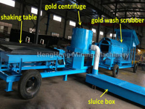 100tph Alluvial River Gold Washing Machine
