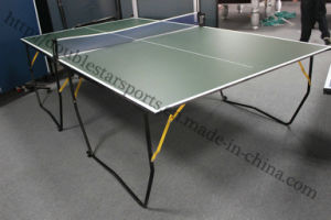 Cheap Pingpong Table Foldable Table Tennis Table with Wheel pictures & photos