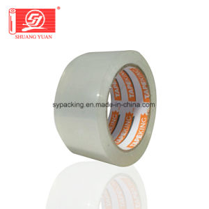 Shuangyuan Water Based Acrylic Adhesive Clear BOPP Packing Tape pictures & photos