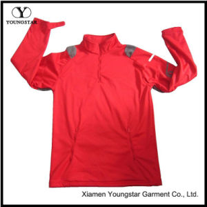 Mens Red Lightweight Fleece Pullover Waterproof Breathable Softshell Jacket pictures & photos