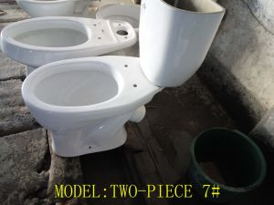 Hot Russia Ceramic X-Trap Two-Piece Wc Toilet pictures & photos