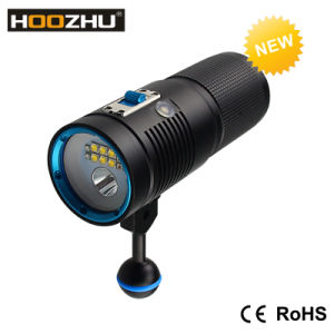 New Hoozhu V40d Diving Video Light+Spotlight with Three Color Light and Max 4500lm Waterproof 100m