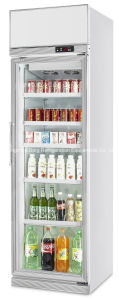 Upright Two Glass Door Showcase Refrigerator pictures & photos