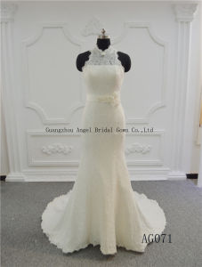 Strapless Bridal Ball Gowns Flora Tulle Wedding Dress Gown pictures & photos