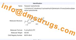 High Puriy Terazosin Hydrochloride CAS: 63074-08-8 GMP Factory Tablet Gard pictures & photos