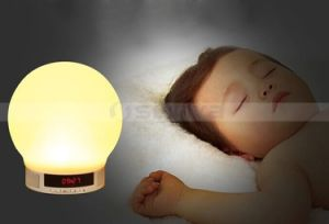 Wireless LED Night Lights Lamp Speaker with Time Display Alarm Clock Bluetooth TF Speakers Modern Lamp Adjustable Brightness pictures & photos