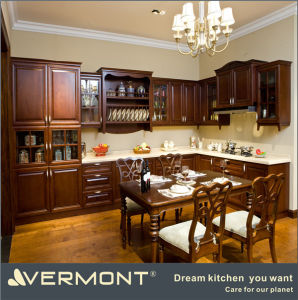 2016 Solid Wood Antique Kitchen Cabinets (VT-SK-001)