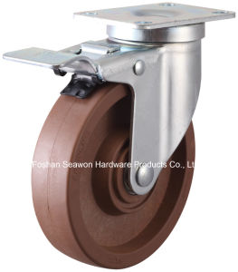 High Temperature Swivel with Brake Caster (280 degree) pictures & photos