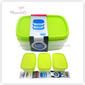 China 3PCS BPA Free Food Grade Plastic PP Food Storage Container