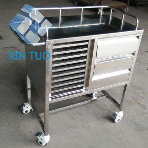 Storage Box Nurse Movable Workstation Medical Cart Trolley pictures & photos
