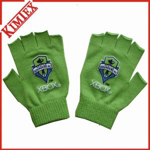 Customs Promotion Knitted Magic Fingerless Glove with Printing pictures & photos