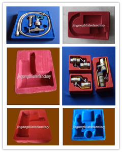 Plastic PS Vacuum Formed Flocking Valve Tray pictures & photos