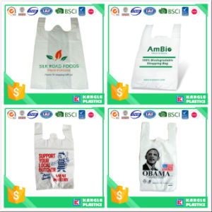 Recylcable Plastic T-Shirt Bag on Block pictures & photos