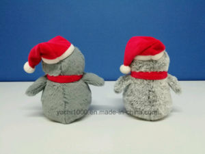 Christmas Big Eyes Penguin Cartoon Design Plush Toy with Hat pictures & photos