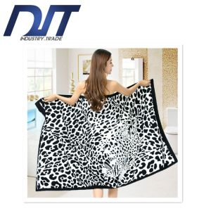 Superfine Fiber Polyester Printing Adult Beach Towel for Sunscreen