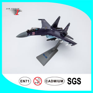 Plane Model Su 35 Fighter with 1: 72 Scale Purple Color