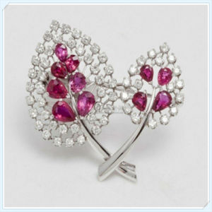 New Design Leaves Shaped Fashion Jewellery Brooch