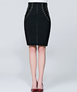 Latest Spring Office High-Waisted Slim Sexy Package Buttocks Bust Short Skirt