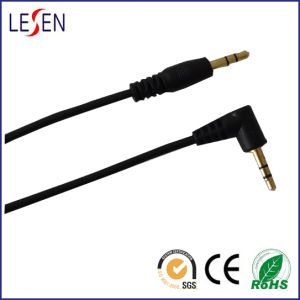 Stereo Audio Cable, 3.5mm Stereo Male Straight Plug to 3.5mm Stereo Male Right Angle Plug pictures & photos