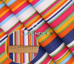 Various Colors Stripe Pattern 250GSM Hometex Canvas Fabric pictures & photos