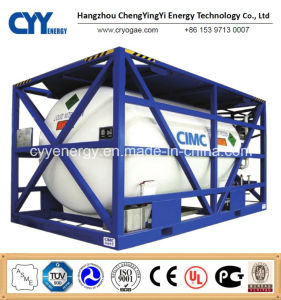 High Pressure Cryogenic Liquid Oxygen Nitrogen Argon ISO Tank Container pictures & photos
