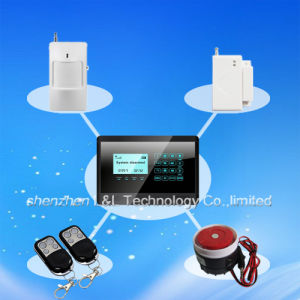 850/900/1800/1900MHz Touch Screen LCD GSM Home Security Alarm System (L&L-811C)