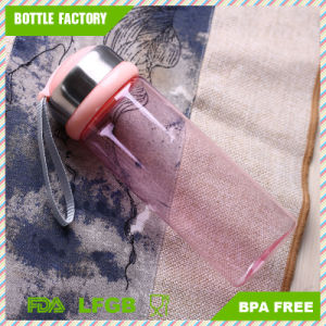 Hot Sale Plastic Water Bottle with Handle and Stainless Steel Cap pictures & photos