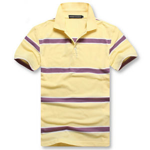 Men′s Short Sleeve Striped Polo Shirt pictures & photos