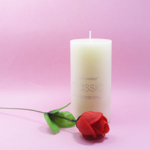 White Scented Pillar Candles for Decoration From China Factory pictures & photos