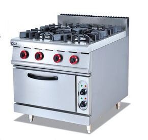 Gas Range with 4-Burner and Electric Oven (GH-987B) pictures & photos