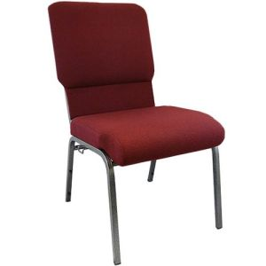 "18.5"" Wide Metal Church Chair"