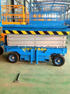 18m Mobile Hydraulic Manual Scissor Lifting Platform pictures & photos