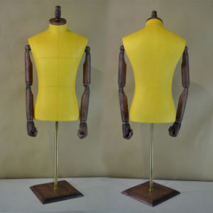 PU Wrapped Male Torso Mannequi with Wood Arm pictures & photos