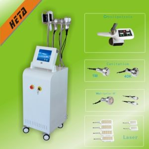 1 Cryo Head 5 Cavitation RF Head Fat Burning Beauty Machine H-3009