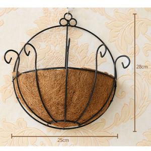 China Metal Hanging Flowerpot Planter Basket Garden Home Decoration