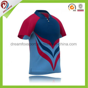 100 Polyester Cricket Uniforms Team India Cricket Jersey With Pattern