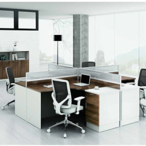 Office Desk Cubicle for 4 Person Call Center Office Partition Workstation