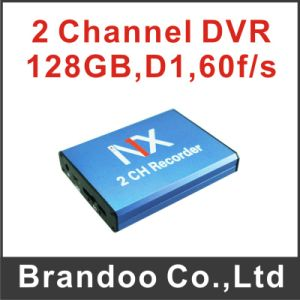 OEM/ODM 2CH SD DVR, Support Motion Detection, Auto Recording with 128GB SD Memory
