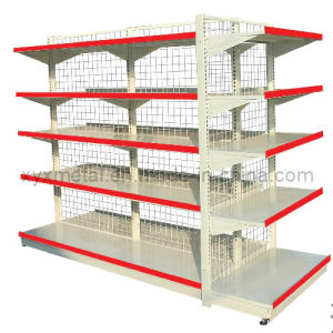 Wire Mesh Back Singel (double) Side Supermarket Shelving pictures & photos