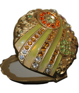 Conch Shaped Compact Mirror (VBG1702-1)