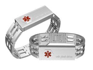 Usb Stainless Steel Medical Id Bracelet Bangle Mdn006