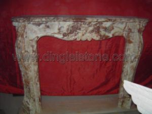 Carving Marble Fireplace
