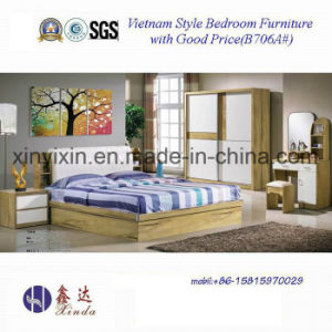 Vietnam Wooden Bed With Leather Modern Bedroom Furniture B706a